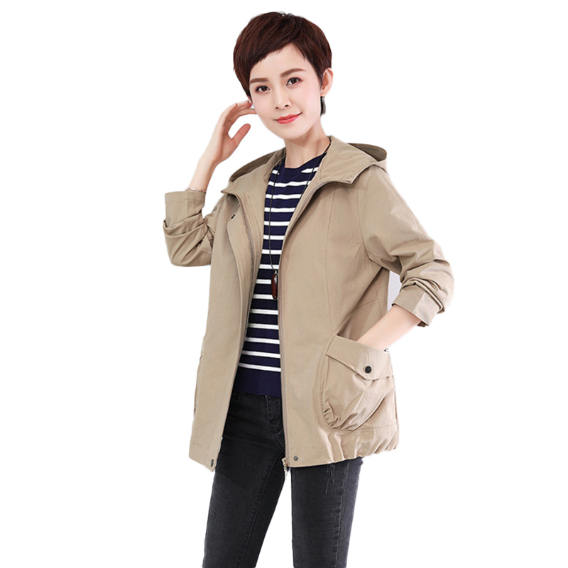 Women's Hooded   Jackets   2019 Spring Casual Windbreaker Women   Basic     Jackets   Coats Zipper Lightweight   Jackets   Bomber Female NW1619