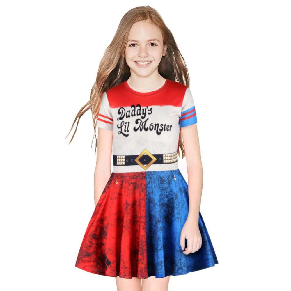 Cosplay Suicide Squad Harley Quinn Dress Halloween Cosplay Kostuums Clown Meisje Jurk Kind Meisje Kinderen Halloween Prinses Jurken