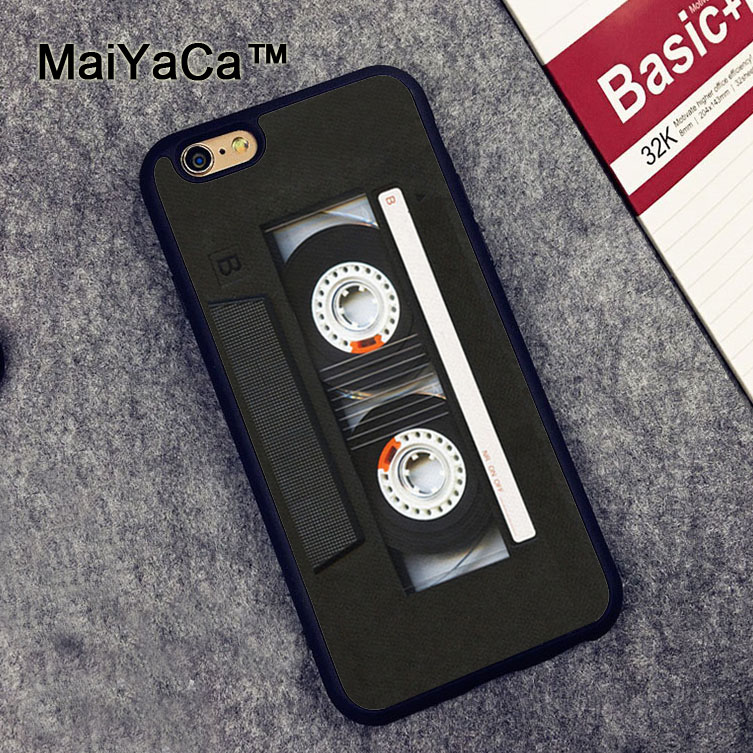 16170a2784 US $4.35 5% OFF|MaiYaCa Classic retro cassette tape For iPhone 6 6S Coque  360 Full Protection Soft TPU Back Cover For iPhone 6/6s Phone Cases-in ...