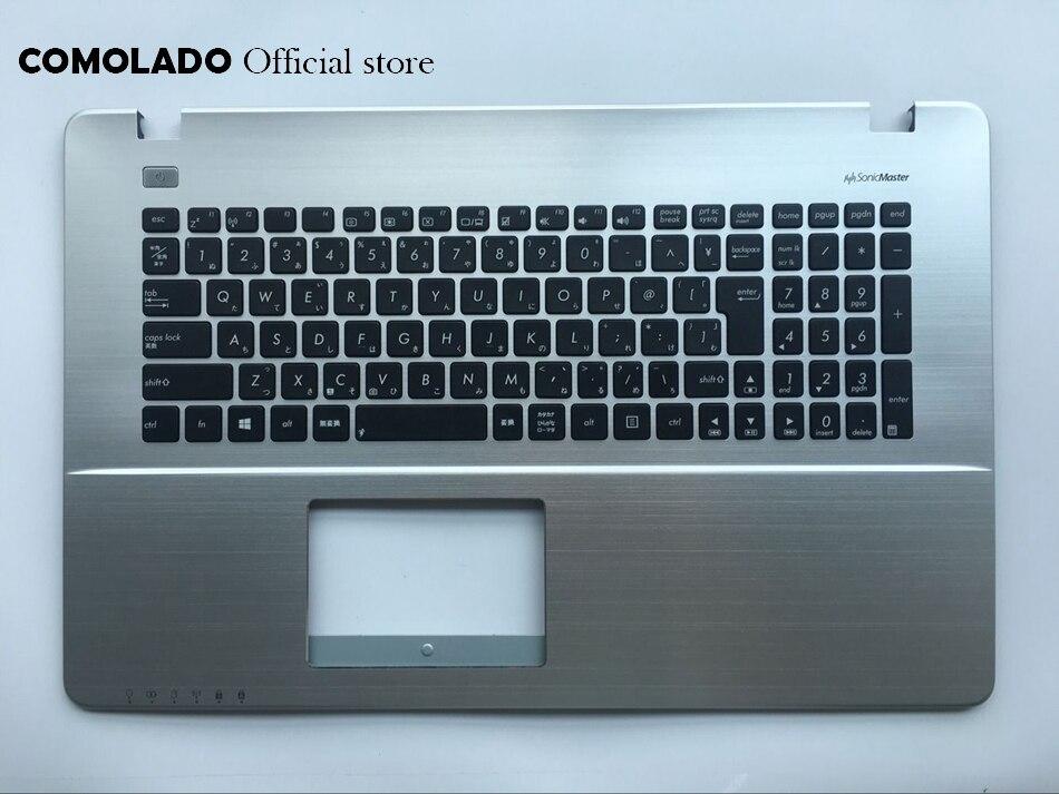 JP clavier japonais pour ASUS X750 X750J X750JA X750JB X750JN X750VB couvercle supérieur boîtier supérieur repose-main clavier argent JP mise en page