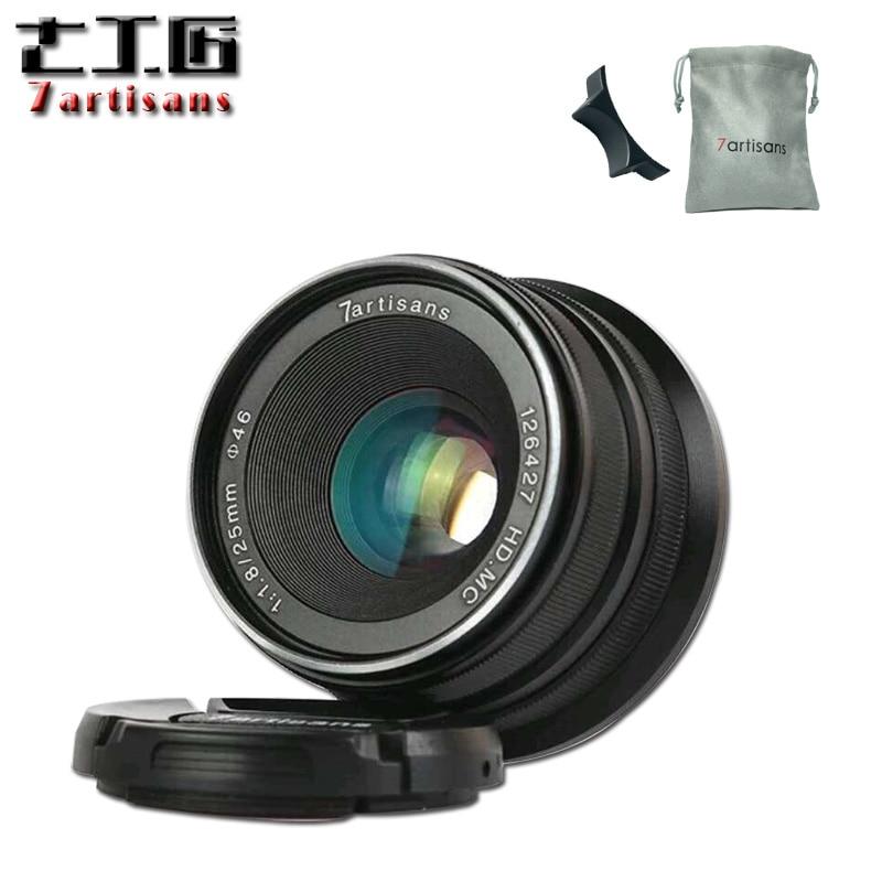 7 artesanos 25mm f1.8 Prime Lens a todos sola serie para e montaje Canon EOS-M mout/para micro 4/3 cámaras A7 A7II A7R A7RII X-A1
