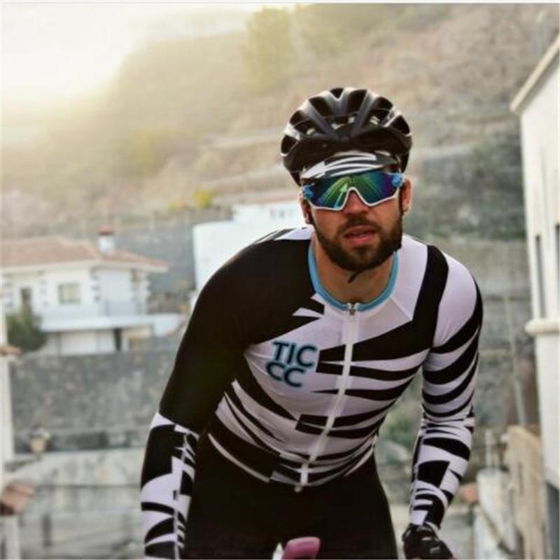 2018 race day warm tic cc men Winter Long sleeves Jacket Climbing top  Jerseys Racewear pro team bicycle cycling Jersey custom eb0753e04