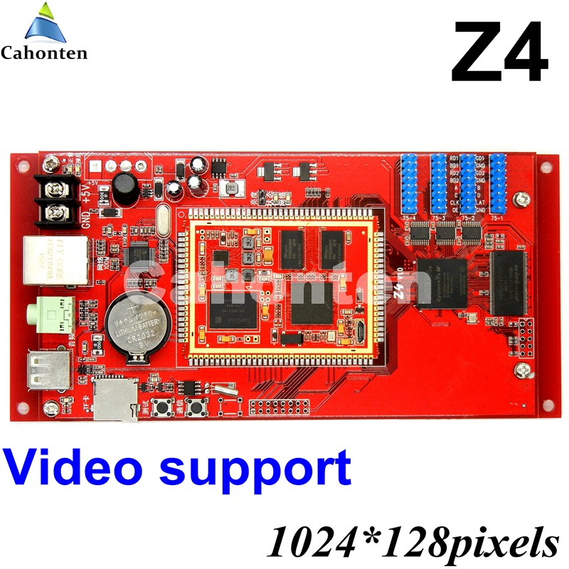 Kaler Z4 USB full color led control card Asynchronous video led Controller 1024*128pixels wireless for p3,p4,p5,p6,p8,p10 module diy p3 led display screen smd indoor full color module 10pcs 1 pcs control card c10 cl power supply 2pcs p3 rgb led sign