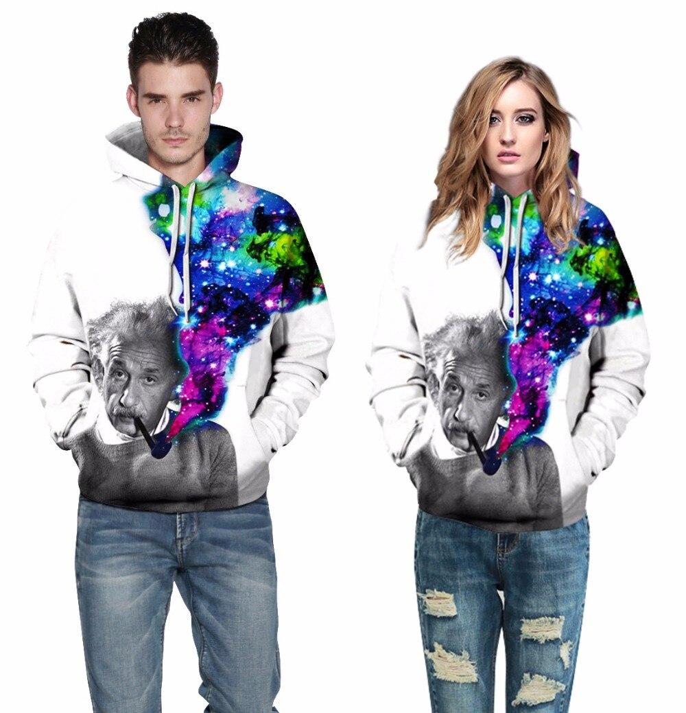 Mr.1991inc новый модный бренд 3D Толстовки Для мужчин/Для женщин толстовки печати звездное небо Эйнштейн Толстовки унисекс с капюшоном Пуловеры ...