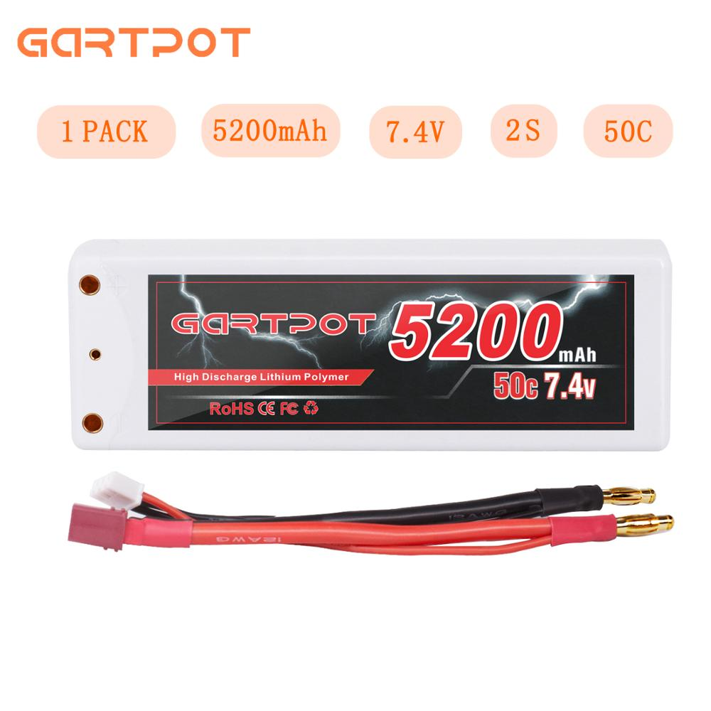 GARTPOT 7 4V Drone Battery 5200mAh 2S Lipo RC Car Battery 50C Battery charger with Deans