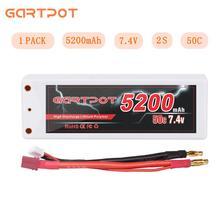 GARTPOT 7,4 в радиоуправляемый Дрон Батарея 5200 мАч Lipo 2 S литий-полимерный, Радиоуправляемый автомобиль Батарея 50C Батарея зарядное устройство с деканов T штекер для машинка «трагги» лодка самолет