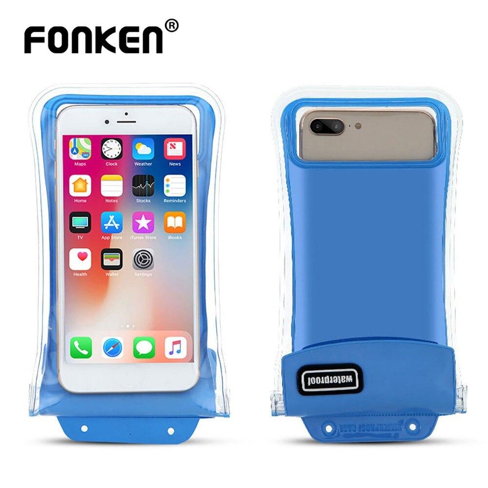 FONKEN Airbag Float Waterproof Case for <font><b>Phone</b></font> <font><b>Universal</b></font> IPX8 Underwater Waterproof <font><b>Bag</b></font> Swim Floatable Water Sport Dry <font><b>Bag</b></font>