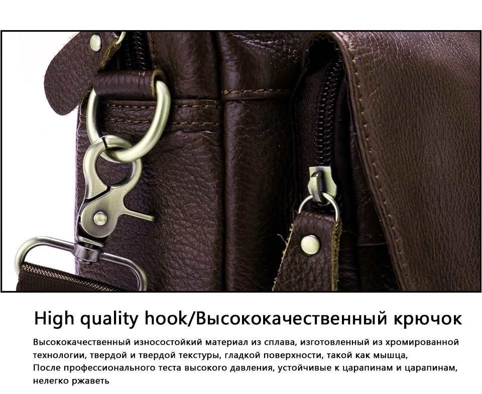 3f2804ad2815b WESTAL omuz çantası erkekler Hakiki Deri erkek omuzdan askili çanta Dizüstü  erkek moda Evrak Çantası Çanta crossbody çanta için erkekler 315