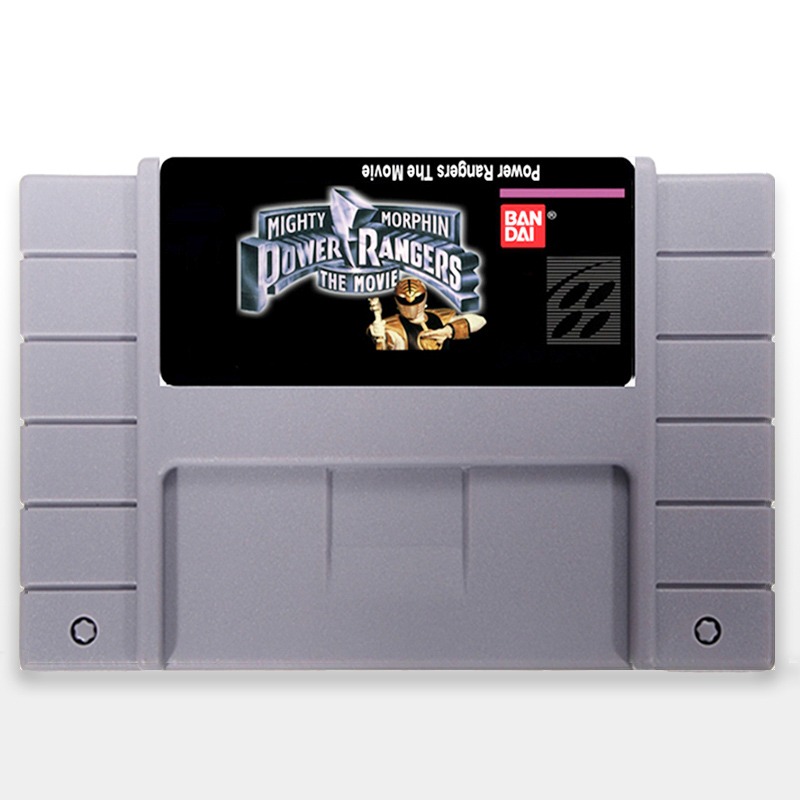 Mighty Morphin Power Rangers the Movie 16 bit NTSC Big Gray Game Card For USA Version Game Player