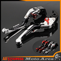 For DUCATI DIAVEL / CARBON MULTISTRADA 1200/S Motorcycle Accessories CNC Aluminum Folding Extendable Brake Clutch Levers Silver#