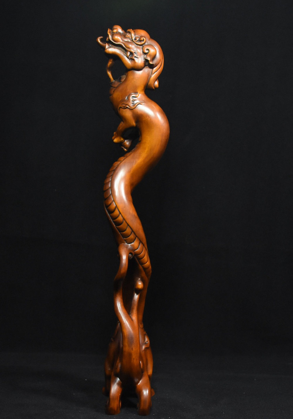christmas 13 Chinese Folk FengShui Boxwood Wood Carved Evil Animal Dragon Beast God Statue halloween