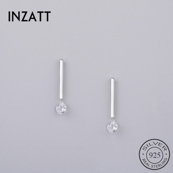 INZATT Classic 925 Sterling Silver Crystal Stud Earrings Geometric Stick Bar For Women Birthday party Fashion.jpg 350x350 - INZATT Classic 925 Sterling Silver Crystal Stud Earrings Geometric Stick Bar For Women Birthday party Fashion Jewelry Pendientes