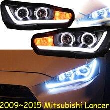 Araba Styling için Kafa Lambası Lancer Farlar Lancer EX Far 2008 ~ 2015 yıl arka lambası DRL H7 D2H Hid Melek göz Bi Xenon Işın