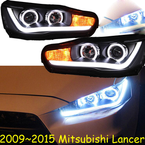 Image 1 - Car Styling Head Lamp for Lancer Headlights Lancer EX Headlight 2008~2015year taillight DRL H7 D2H Hid Angel Eye Bi Xenon Beam