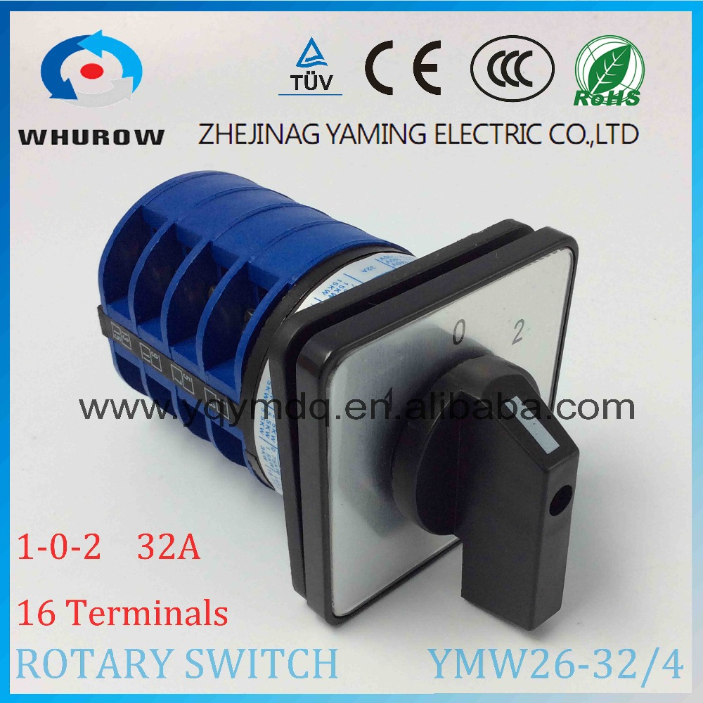 LW26 YMW26-32/4 Rotary switch 3 postion 690V 32A 4 pole 16 terminal screw selector universal changeover cam main switch 660v ui 10a ith 8 terminals rotary cam universal changeover combination switch