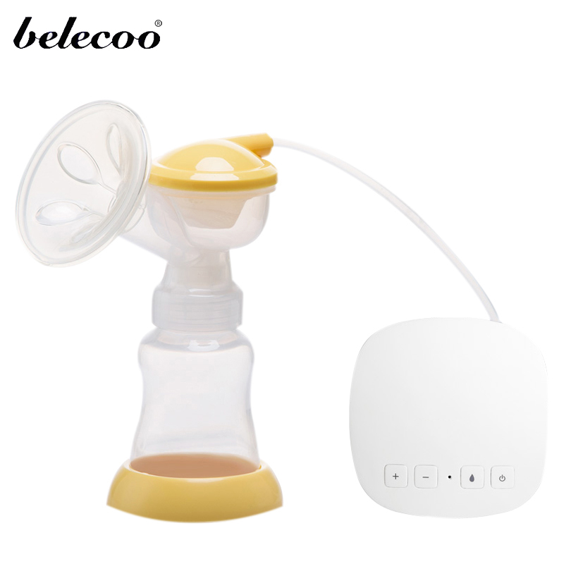Belecoo  Free Shipping USB BPA Free Breast Pump More Powerful Breast Electric Breast Pumps For Mom Breast Feeding