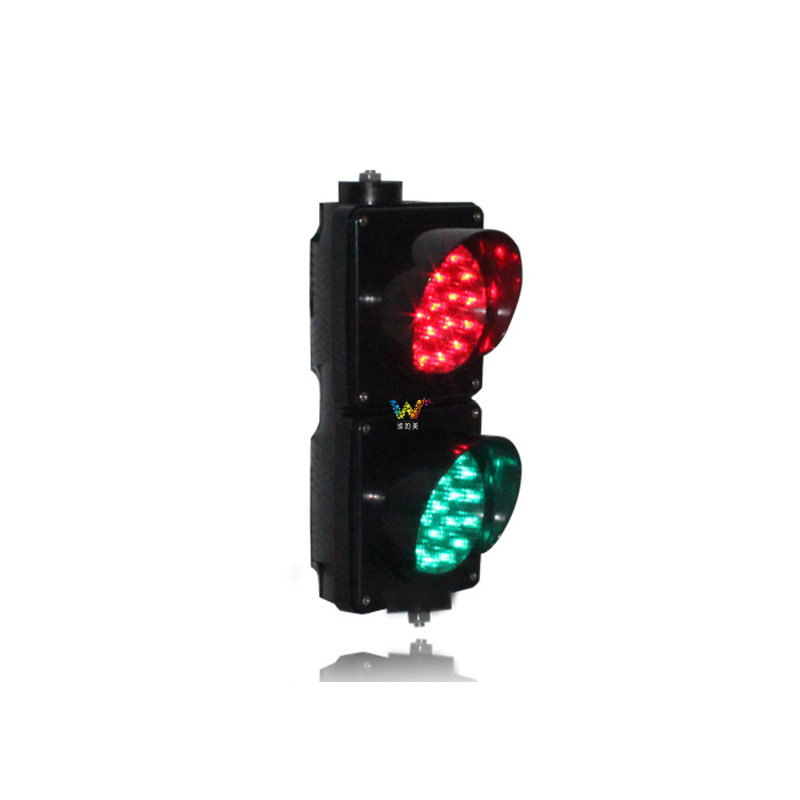 AC85-265V  Hot Selling Parking Lots 100mm Red Green Mini Traffic Signal Light For School Education With PC Housing