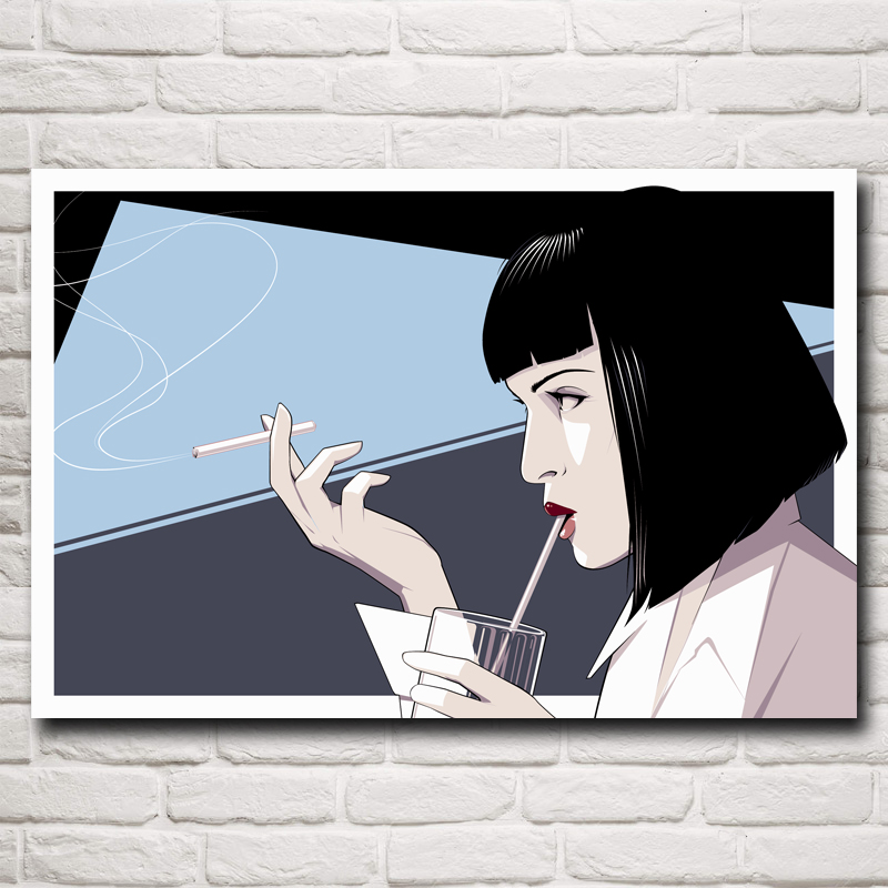 Pulp Fiction Mia Wallace Uma Thurman Filme Art Silk Poster drucken ...