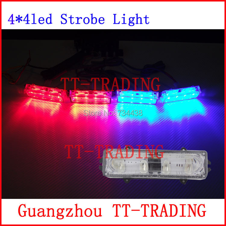high bright police Strobe Lights 16 LED Flash Warning light car grille light red blue amber white DC12V цены онлайн