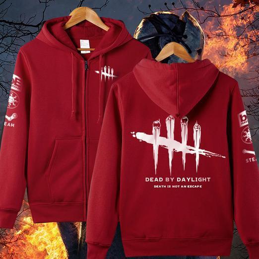 XXXXL Plus Size Men Women Game Dead By Daylight Hoodie Zipper Cosplay Jacket Fleece Coat Casual Cardigan Sweatshirts
