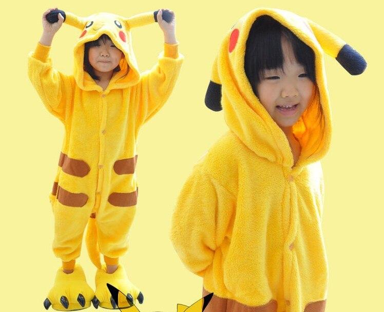 57975b1bd8ac Kawaii Kids Pikachu Cosplay Costumes Children Girl Boys Pokemon Go ...
