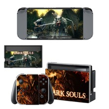 Nintend Switch Vinyl Skins Sticker For Nintendo Console and Controller Skin Set - Dark Souls