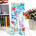 Girl tights 3D Print Cartoon Princess Flower Pants New Year Show Party Birthday Kids clothes Student Girl Bottoms 5-9 Y