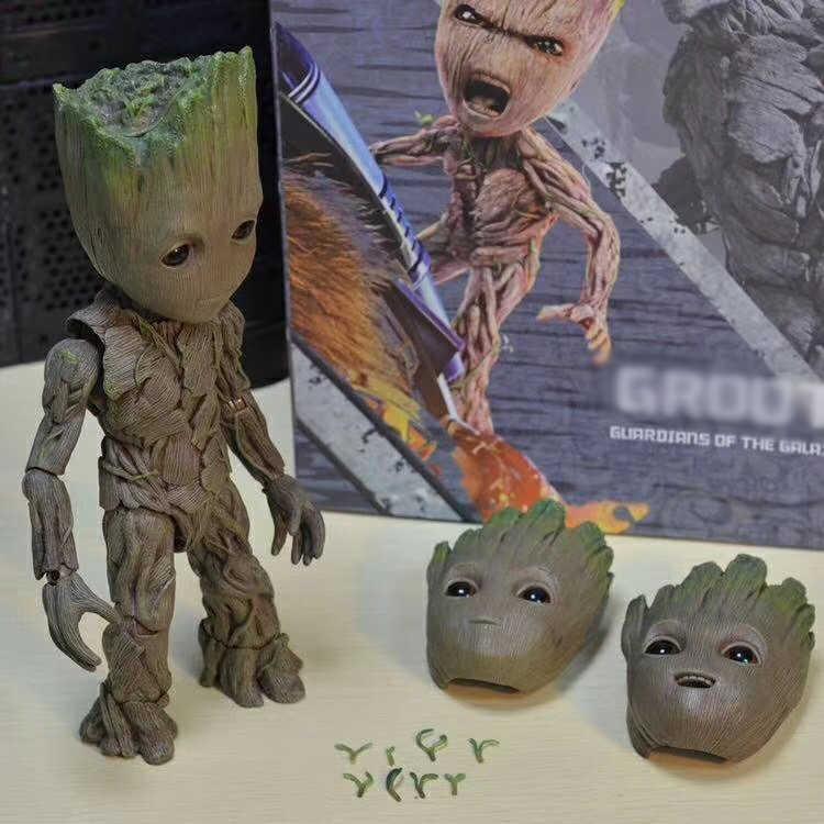 حار لعب 1:1 أعجوبة حراس غالاكسي المنتقمون لطيف الطفل شجرة رجل المفاصل المنقولة BJD ألعاب شخصيات الحركة