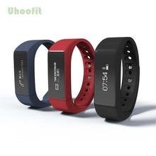Uhoofit I5 плюс Смарт Браслет Bluetooth 4.0 Водонепроницаемый Сенсорный экран Фитнес трекер здоровье браслет сна Monitores Смарт-часы