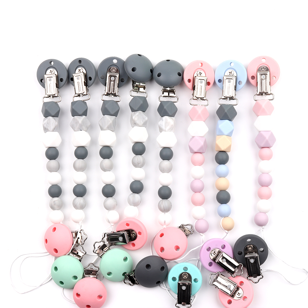 Image 5 - TYRY.HU 10pc Mickey Pacifier Dummy Teether Chain Holder Clips BPA Free Baby Nursing Safe Toys Accessories DIY Pacifier ClipsBeads   -
