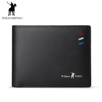 WILLIAMPOLO 2018 Leather Fashion Card Wallet Handmade Wallet Card Holder Short Design Purse POLO171336