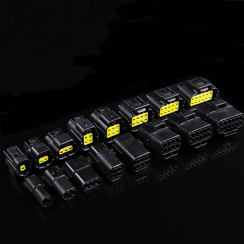 1 Set 1/2/3/4/6/8/10/12 Pin Way Waterproof Wire Connector Plug Car Auto Sealed Electrical Set Car Truck Connectors