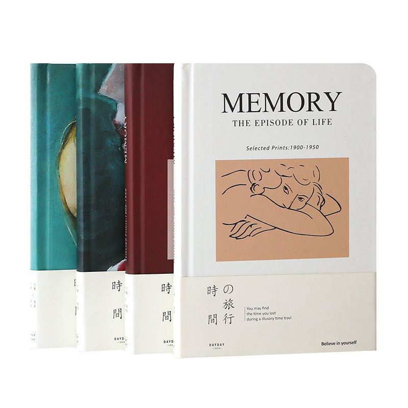 Hardcover Time Travel Series Bullet Journal Life Log Vintage Literature And Art Notebook Gift Stationery School Office Supplies