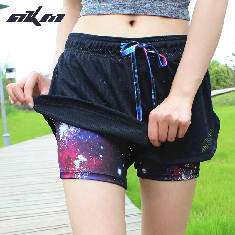 Kvinnor Running Shorts Running Strumpor Kort Women's Gym Cool Woman Sports Short Fitness Ladies Running Shorts Sportswear
