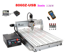 2.2kw CNC engraving machine 8060Z-USB 3axis metal woodworking lathe, free tax to Russia countries