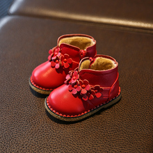 Autumn and winter genuine leather small baby shoes baby shoes toddler shoes soft outsole 0-1 year old girls shoes 2 – 3