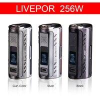 Аутентичные yosta livepor 256 коробка mod 256 Вт triple 18650 электронная сигарета VAPE mod TC VW apv e-сигареты