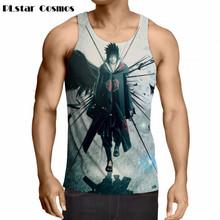 PLstar Cosmos summer Newest Style Cool Naruto Tank tops Men Women Hipster 3D vest Anime Handsome Uchiha Itachi casual