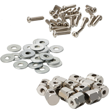24 Sets Chrome Plated Banjo Brackets Lugs Bolts For Banjo Parts Replacement