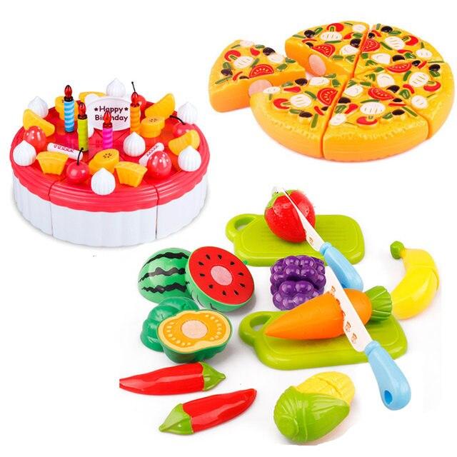 Online Shop 6pcs/set Hot Children Play House Toys Plastic Fruit ...