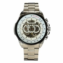 Winner Mechanical  Luxury Men Black Waterproof Fashion Casual Military Brand  Watch
