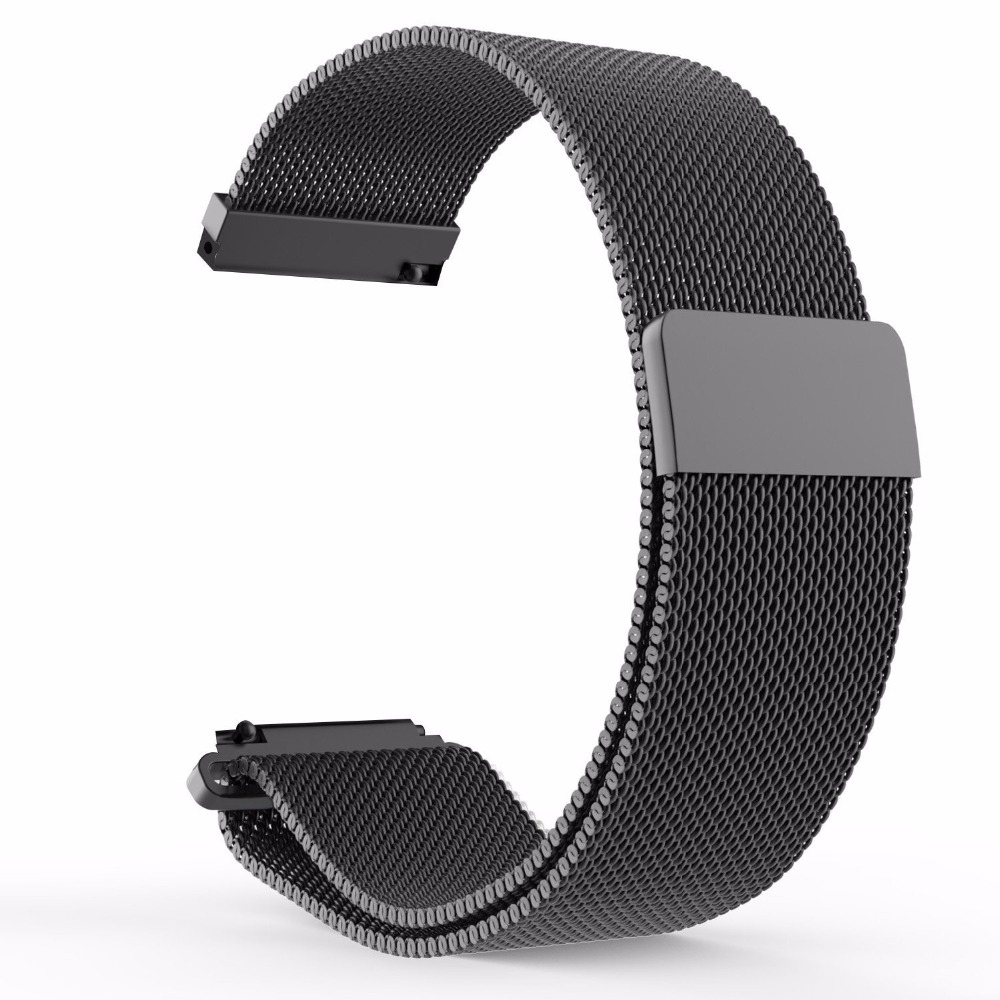 16 18 20 22 23mm Silver Black Gold Rose  Blue Mesh Milanese Loop Steel Bracelet Wrist Watch Band Strap Magnetic Closure