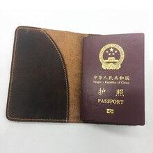 Натуральная кожа Обложка для паспорта футляр держатель кредитной карты
