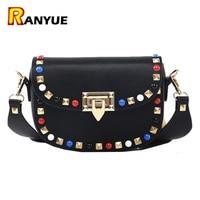 Spring Autumn New Fashion Rivet Mini PU Leather Crossbody Bags For Women S Famous Brand Designer