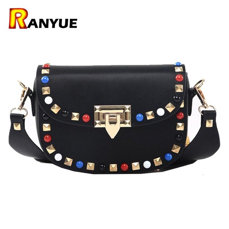 Spring Autumn New Fashion Rivet Mini PU Leather Crossbody Bags For Women