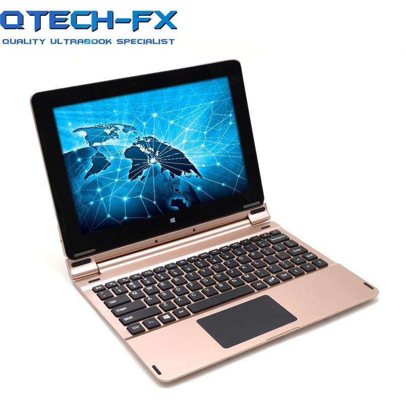 2-in-1 Laptop Touch Screen And Keyboard Fast Intel Quad-Core CPU 10.1Notebook Computer Full Metal Shell Bluetooth WIFI Russian