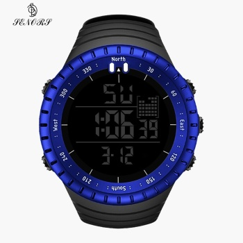 SENORS Outdoor Men Watches Sport Digital Woman Military Watch Male Watch Fashion Wristwatch Silicone Strap LED Clock Electronic 3