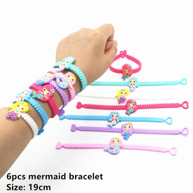 6pcs M bracelet Mermaid party plates 5c64f5cb3123b