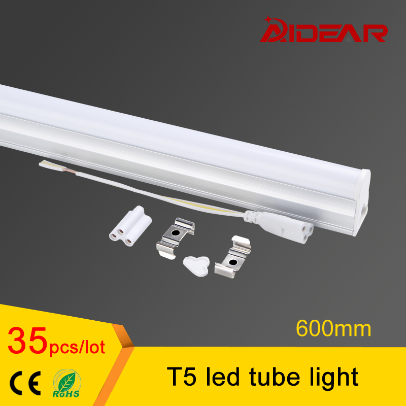 Promotion t5 light fixtures 600mm AC85-265V LED Fluorescent Tube LED T5 Tube Lamps 10W Cold White Light ...