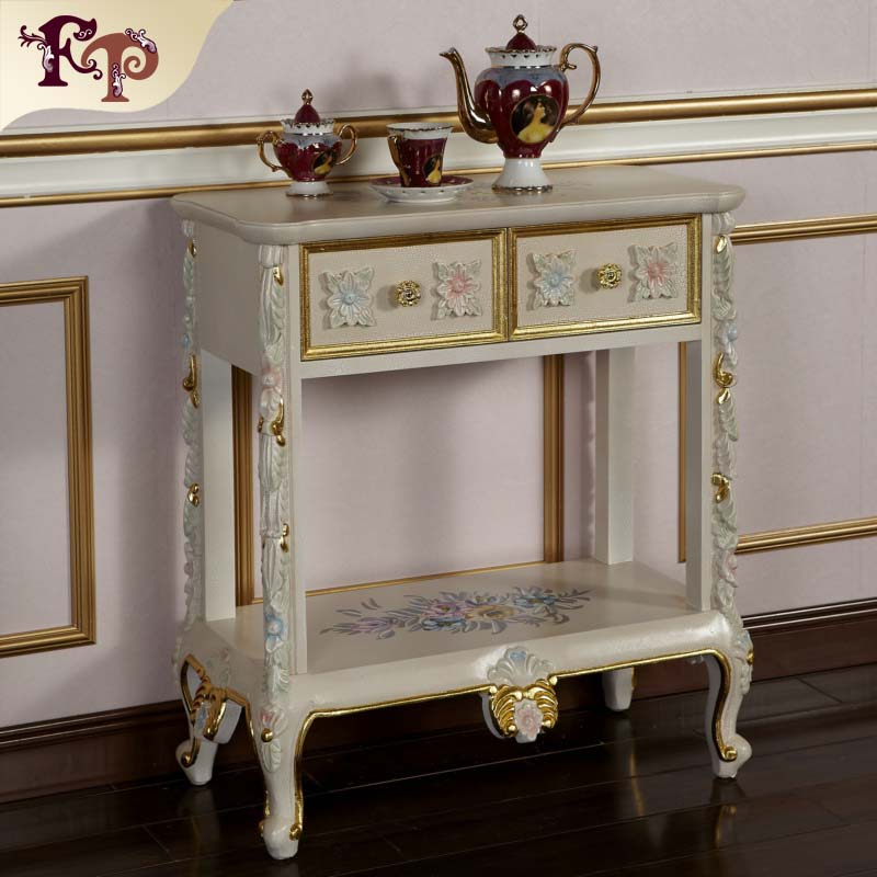 classical furniture for home - royalty solid wood hand carved tea cabinet
